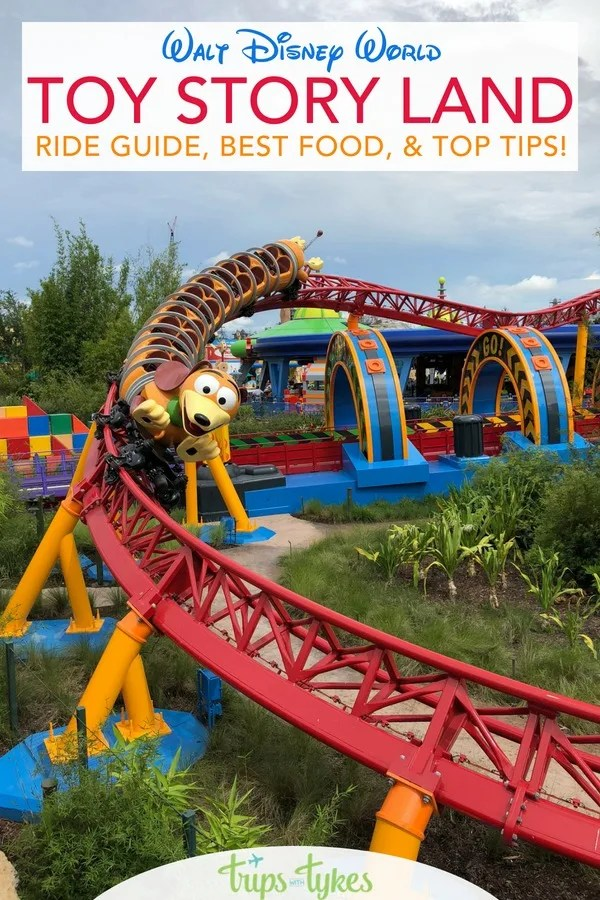 Guide to Toy Story Land in Walt Disney World. Top tips for the newest rides in Disney's Hollywood Studios, new food at Woody's Lunch Box, new merchandise, and Fastpass+ tips. #toystoryland #tmomdisney #disneyworld #disneysmmc #hollywoodstudios