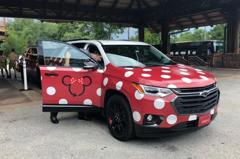 Disney Minnie Vans - Vehicle at Animal Kingdom Lodge
