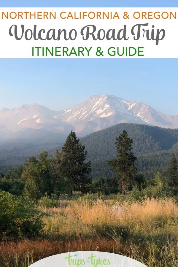 How to visit 5 volcano destinations in Northern California and Southern and Central Oregon in one road trip. Tips for the Volcanic Legacy Scenic Byway including Lassen Volcanic National Park, Lava Beds National Monument, Crater Lake National Park and beyond. #nationalpark #findyourpark #volcano #volcaniclegacyscenicbyway #northerncalifornia #oregon #lavabeds