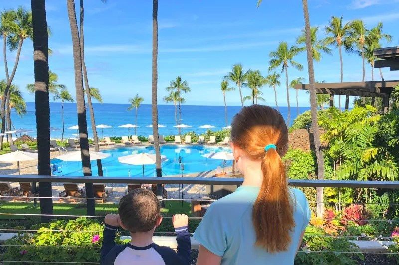 Taking Kids out of School to Travel - Mauna Kea Pool and Ocean