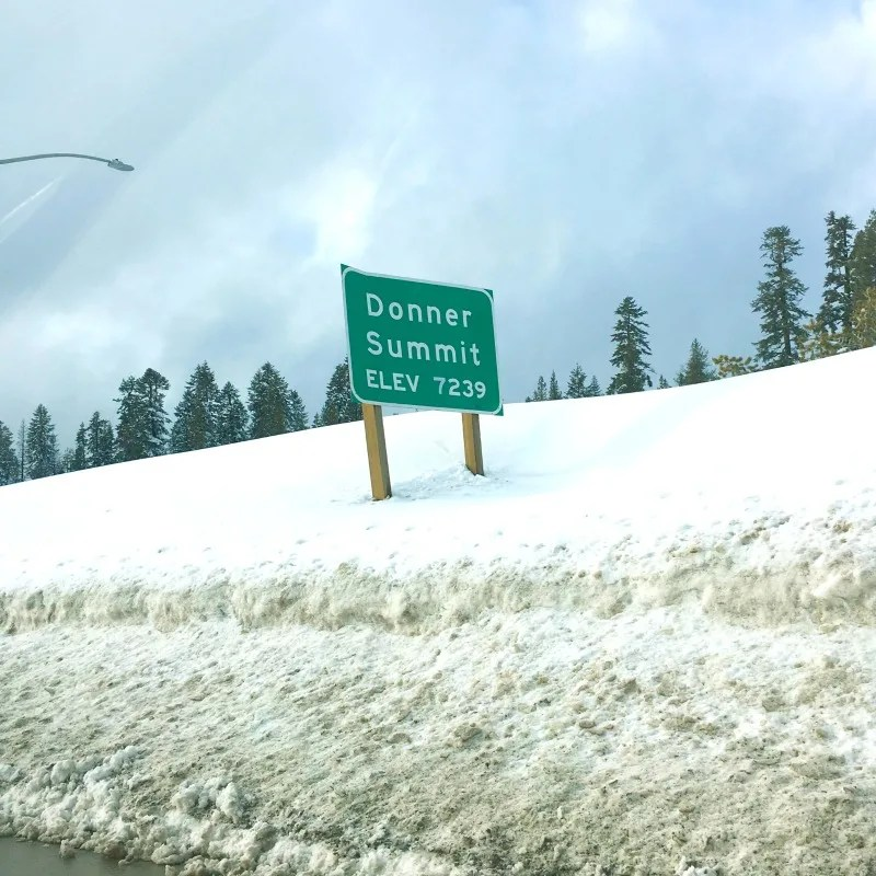 Winter Driving to Tahoe - Donner Summit