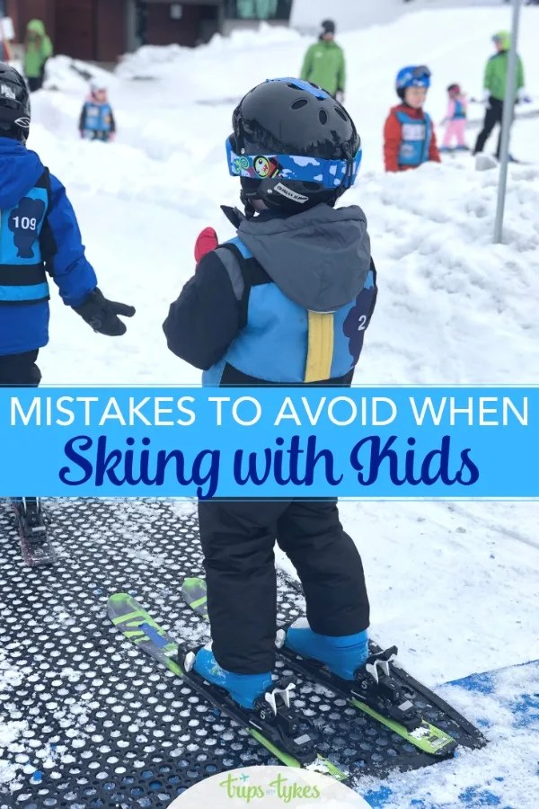Skiing with kids? Avoid these mistakes on your family ski trips! Learn how to maximize your family travel and winter fun, reduce your costs, and ultimately raise children who love to ski and snowboard. #skiing #skiingwithkids #skitrip #wintertravel