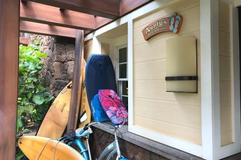Disney Aulani Auntys Beach House - Entrance