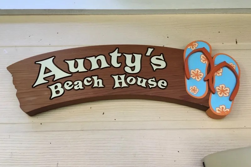 Disney Aulani Auntys Beach House - Sign
