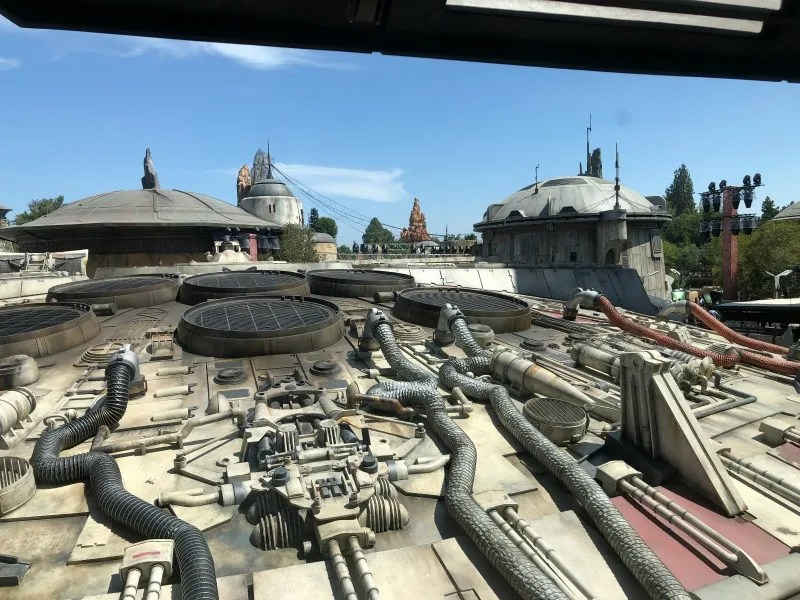 Star Wars Galaxys Edge Disneyland - Falcon View from Above
