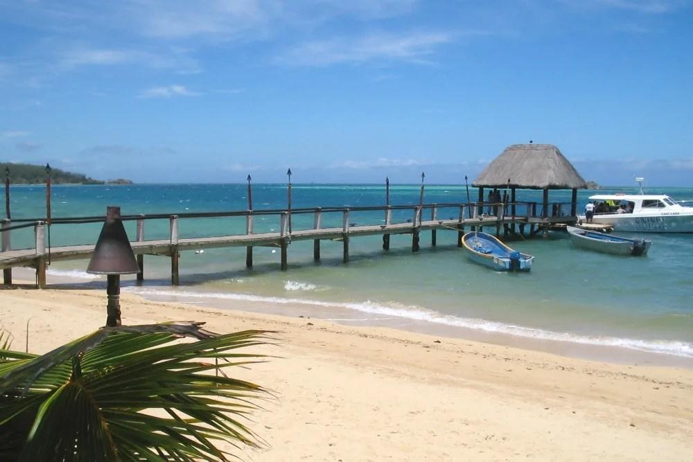 Travel Beach Dock Boat Fiji