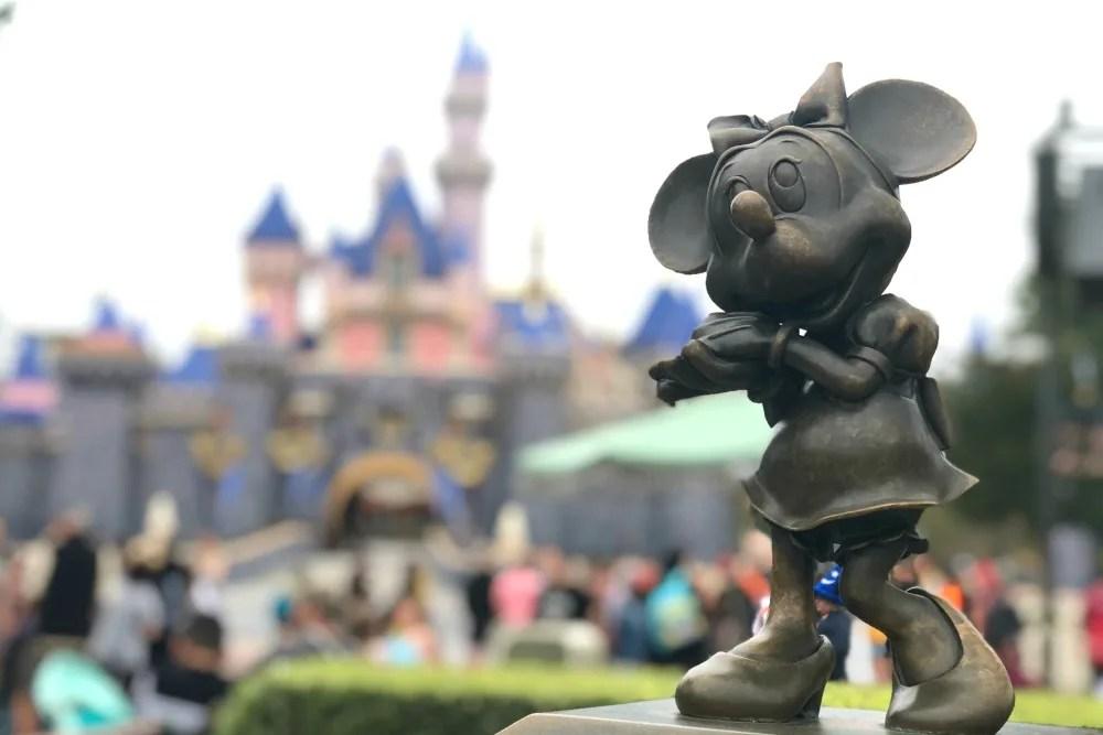 Disneyland Sleeping Beauty Castle Minnie Statue