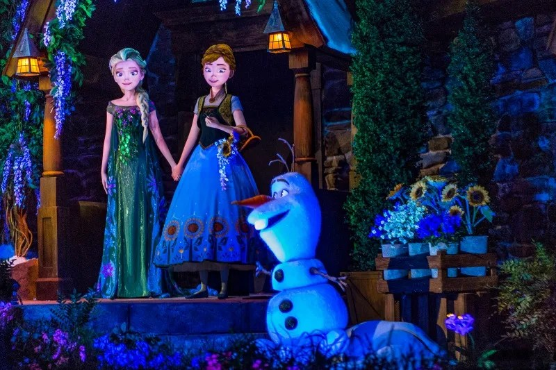 Frozen Ever After - Olaf Anna and Elsa