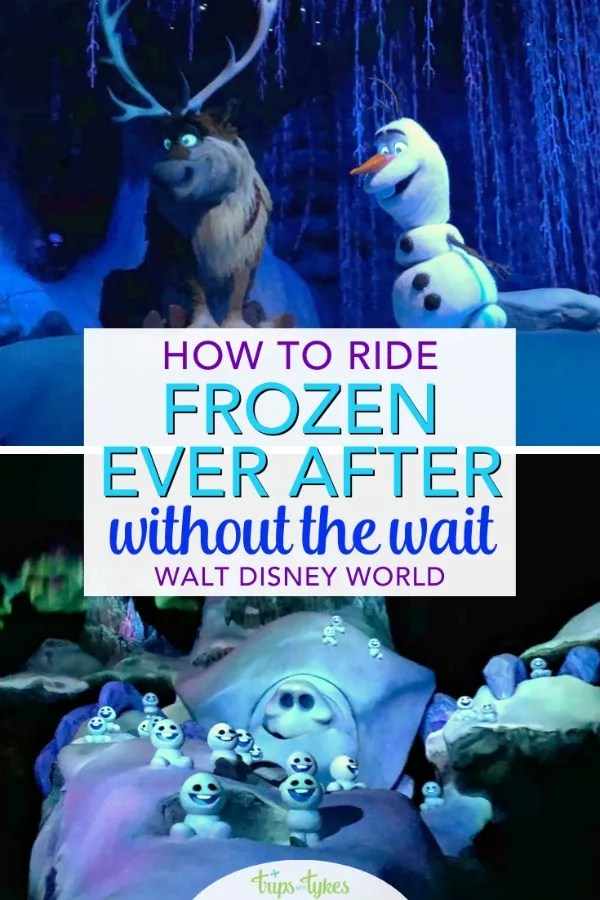 Tips for riding Frozen Ever After in Epcot at Walt Disney World without the wait. How to avoid long lines for this popular attraction featuring Anna and Elsa in the Norway pavilion. Advanced Fastpass+ techniques strategies, plus a couple of lesser known hacks and tricks! #frozen #frozeneverafter #disneyworld #epcot