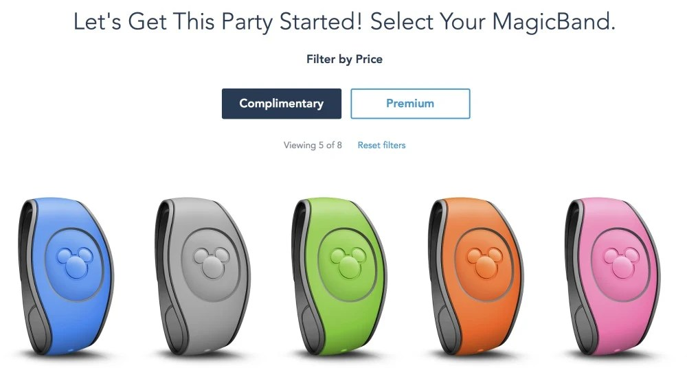 Disney MagicBands - Free Colors