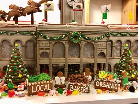 Ferry Building San Francisco - Merry Building Holiday gingerbread