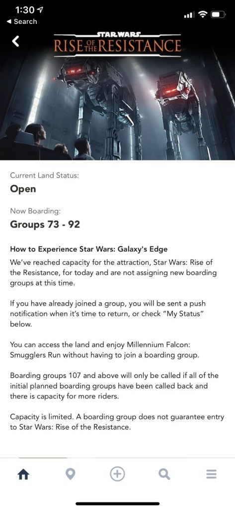 Star Wars Rise of the Resistance My Disney Experience App