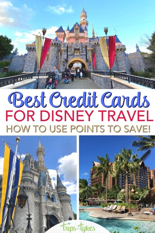 Want to maximize credit card rewards to travel to Disney? All the details on which credit cards can earn you the most points and miles to get you to Disneyland, Walt Disney World, Aulani, and more - for cheap or even for free! Find out how to save on park tickets, hotels, flights, and other expenses. #Disney #creditcards