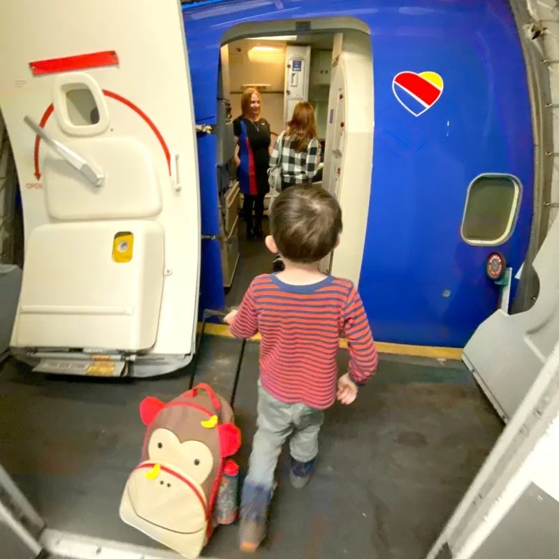 Child Boarding Southwest Airlines