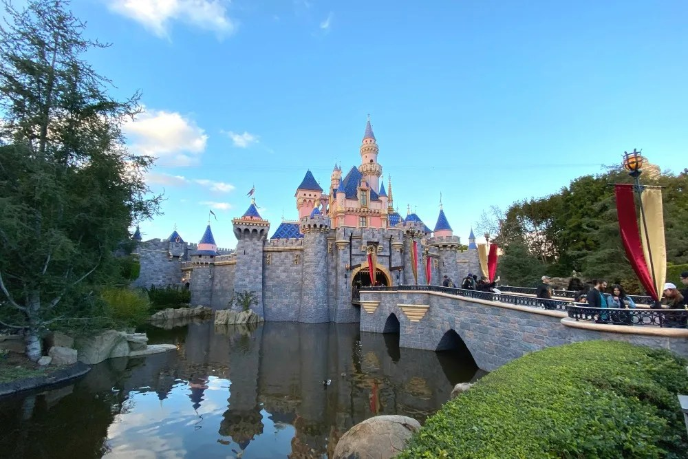 Disneyland Sleeping Beauty Castle Jan 2020
