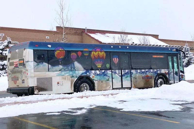 Park City Utah Transit Bus