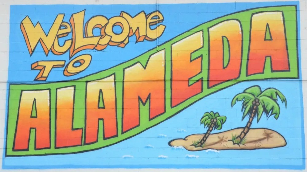 Welcome to Alameda California Sign