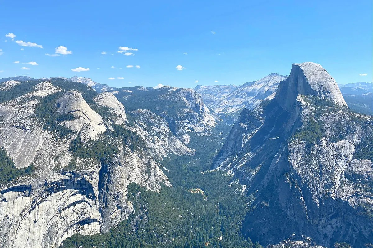 Yosemite National Park Half Dome View from Glacier Point