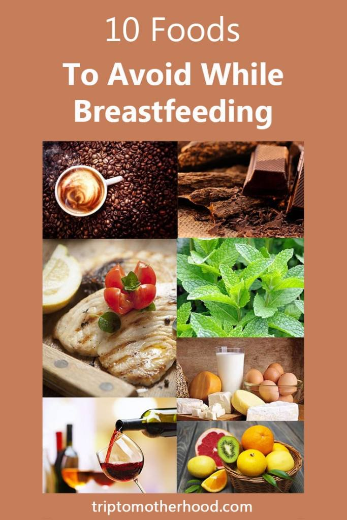 Some foods may seriously interfere with breastfeeding, causing your baby many unpleasant side effects, like colics, allergies or sleepless nights. How to avoid this? Read about 10 foods you should totally avoid or minimize while breastfeeding. #babycolic #babyallergies #breastfeedingdiet #babyfood #breastfeedingtips #newmoms
