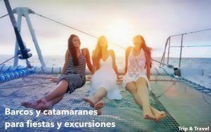 Fiestas y excursiones en barco y catamarán, excursiones en yates de lujo, fiestas en el mar, barcos para grupos, catamarán para grupos mar, bebidas, buenos precios, España, Canarias, Barcelona, excursiones en barco, excursiones en catamarán, música, DJ, fiestas en barco, fiestas en catamarán, fiestas en yates de lujo