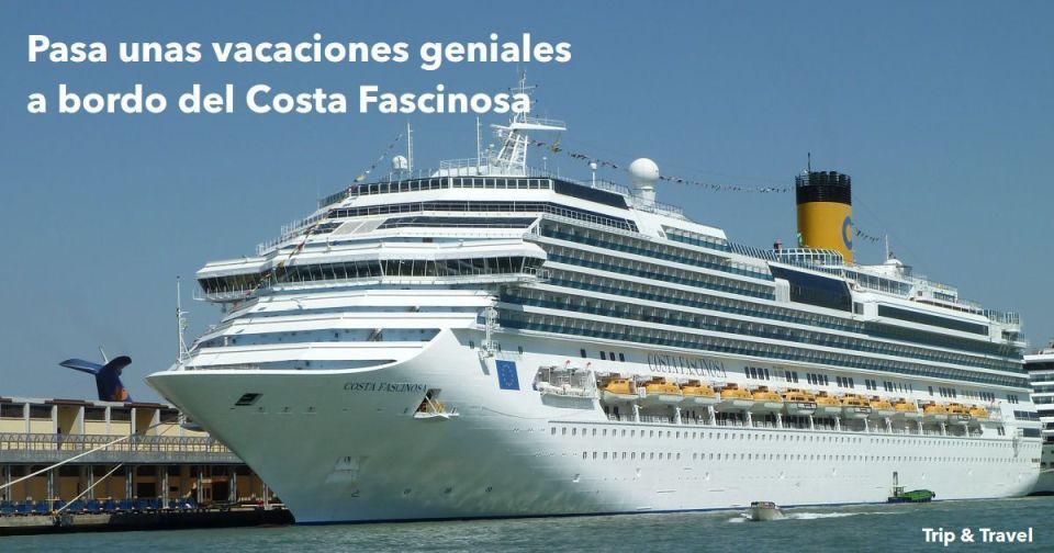 8 días a bordo del Costa Fascinosa desde Barcelona, Cataluña, España, cruceros, Mar Mediterráneo, Valencia, Palma de Mallorca, Islas Baleares, Italia, Palermo, Nápoles, Savona, vacaciones