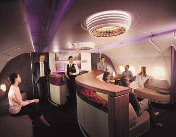 qatar airways onboard lounge