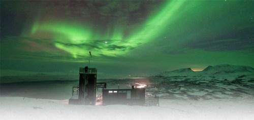Noorerlicht bij Aurora Sky Station