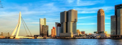 Uitzicht op Rotterdam