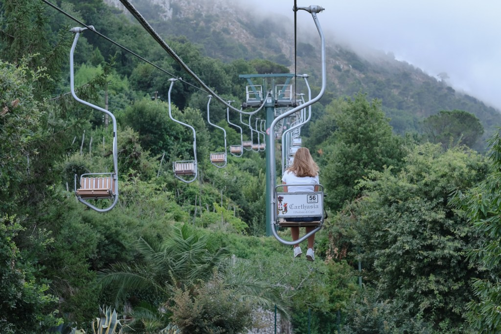 Chairlift ride to the Monte Solaro