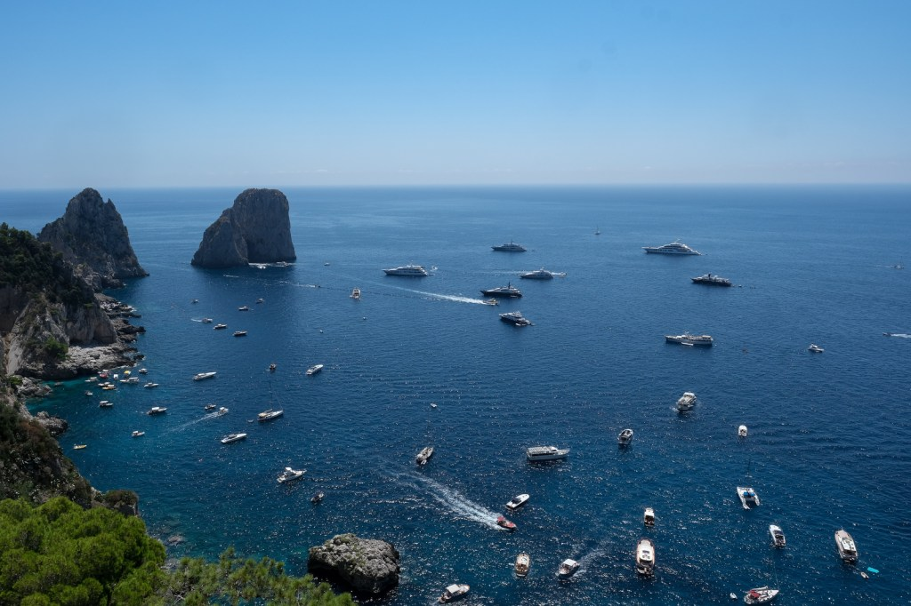View from the Monte Solaro, the highest point of Capri.