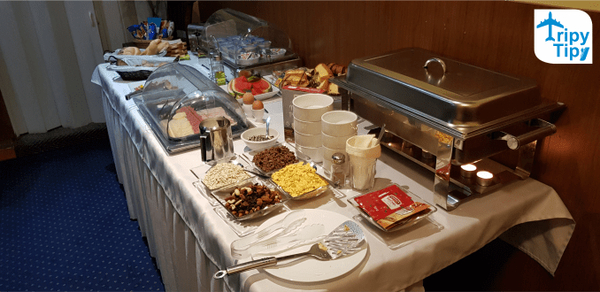 breakfast in the gusthouse Gremium located in the centre of Bratislava