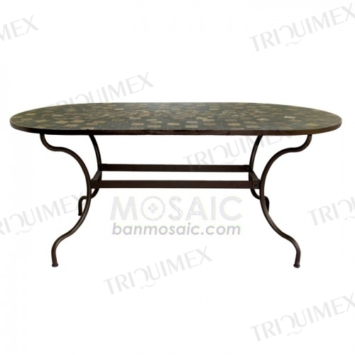 Slate mosaic dining table