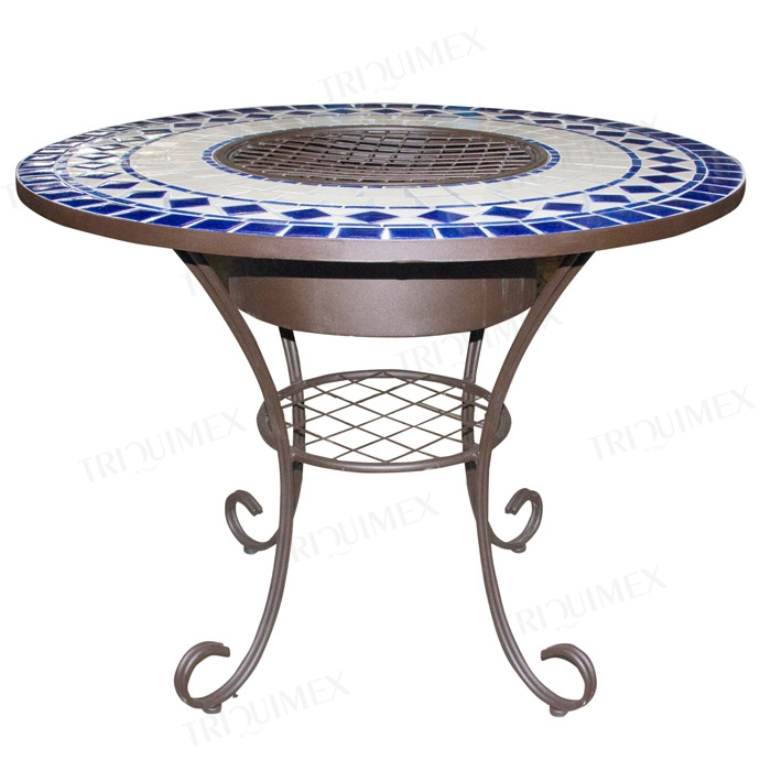 charcoal BBQ table