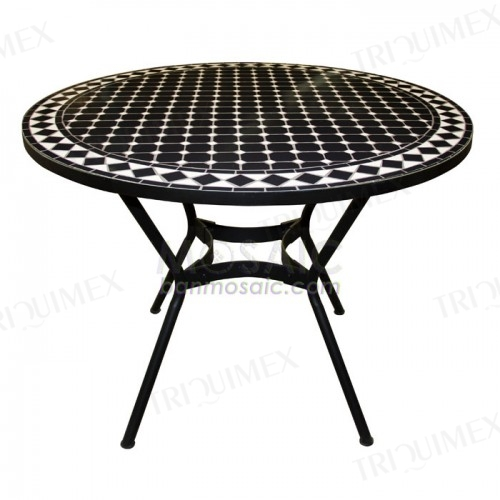 Wrought Iron and Mosaic Dining Table for 4