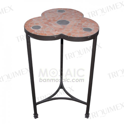 Wrought Iron and Mosaic Plant Stand