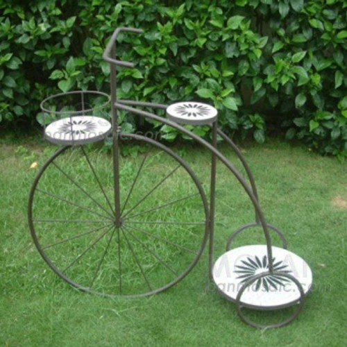 Wrought Iron Bicycle Plant Stand for Beautiful Garden