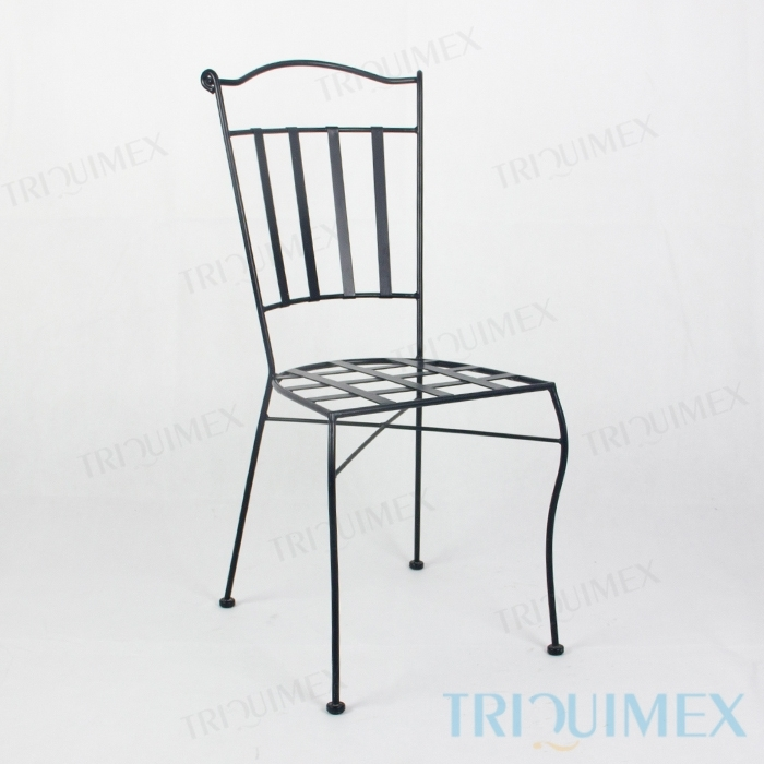 Wrought-Iron-Dining-Chair-Lattice-Seat-2