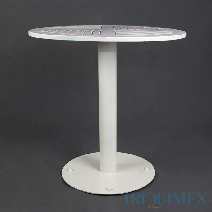 Round 3 Round Coffee Table Made Of Metal Cm ø80x23h: Round Wood Bistro Table With Iron Pedestal Base