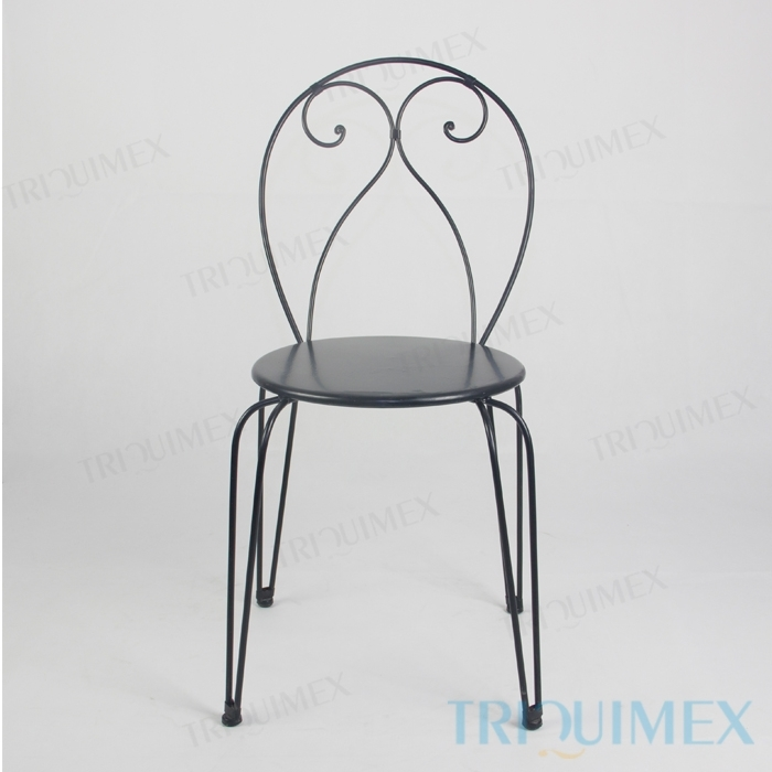Wrought Iron Bistro Chair With Hairpin Legs 1 ...