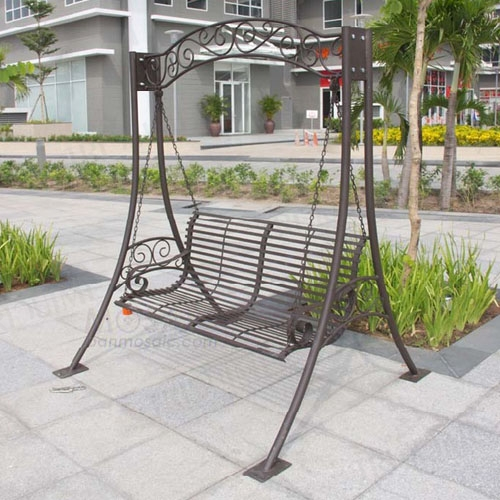 garden decorating ideas with wrought iron free standing outdoor swing