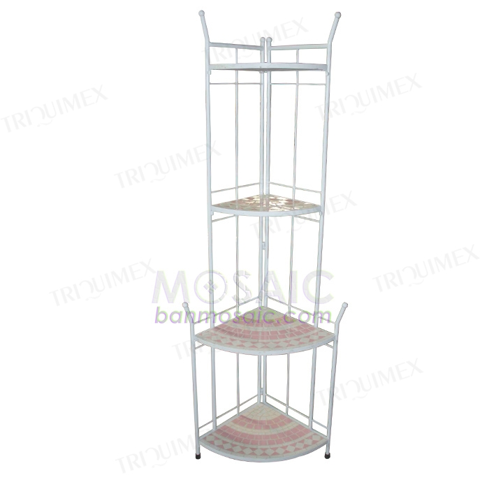 quarter round wrought iron corner shelf. Black Bedroom Furniture Sets. Home Design Ideas