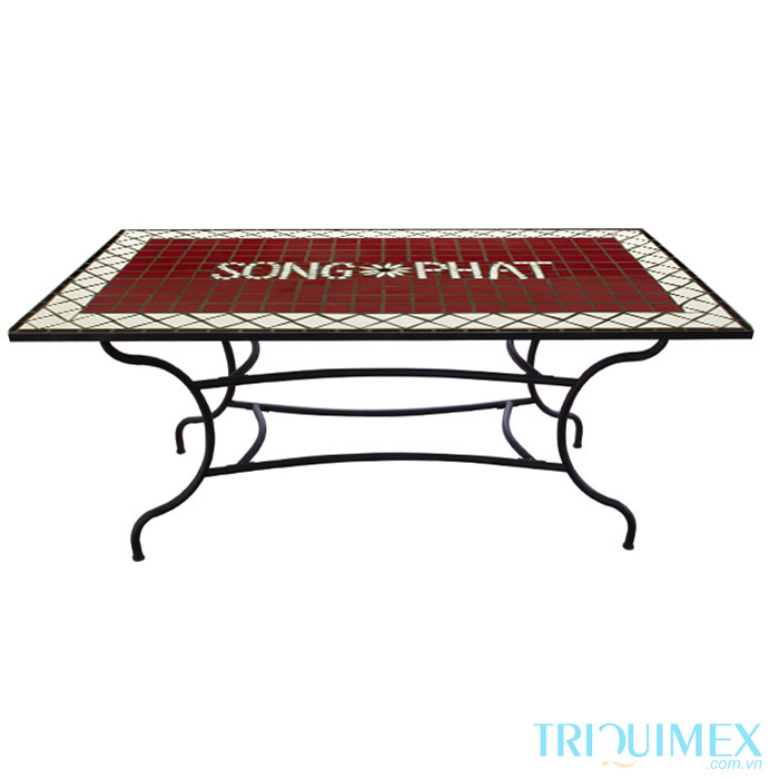 Rectangular-Outdoor-Tile-Top Table-1