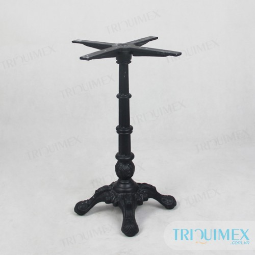 Cast Iron Pedestal Table With Stone Round Top