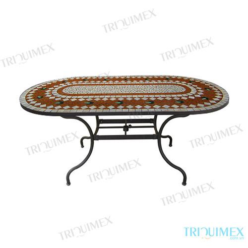 Mosaic-oval-coffee-table