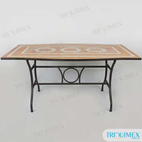 Rectangular-wrought-iron-dining-table-with-mosaic-top (2)