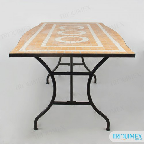 Rectangular-wrought-iron-dining-table-with-mosaic-top (5)
