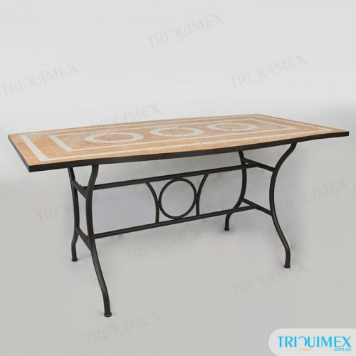 Rectangular-wrought-iron-dining-table-with-mosaic-top (6)