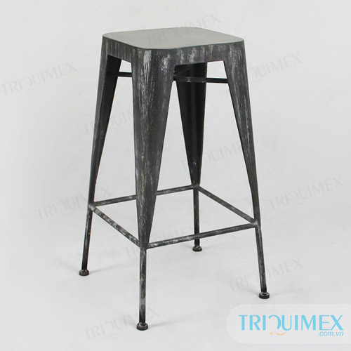 Wrought-iron-bar-tolix-stool-with-lightweight-concrete-seat