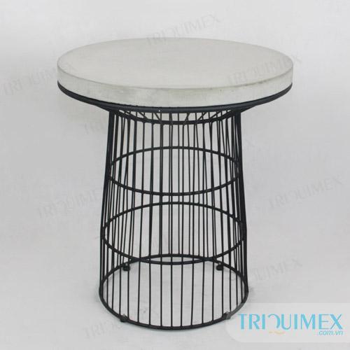 round-concrete-table
