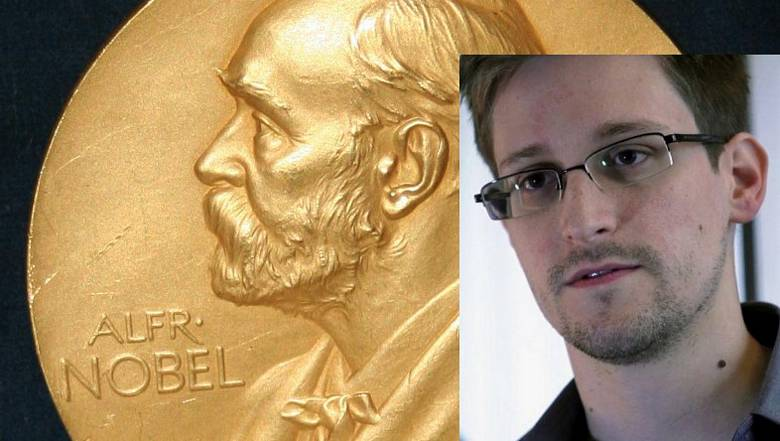 Alfred Nobel i Edward Snowden (fotomontaža)